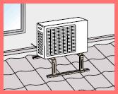 エアコン室外機屋根置き
