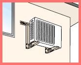 エアコン室外機壁面取付