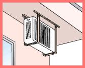 エアコン室外機天井吊り